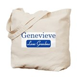 Genevieve loves grandma Tote Bag