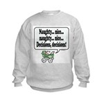 Naughty/Nice Decision -  Kids Sweatshirt