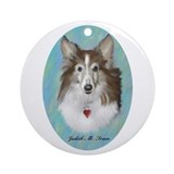 Sheltie Dog Ornament (Round)