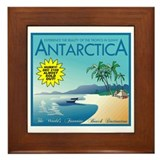 Visit Tropical Antarctica Framed Tile