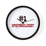 Number 1 EPISTEMOLOGIST Wall Clock