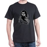 Heart Breaker Devil Girl Black T-Shirt