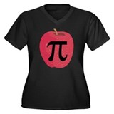 Apple Pie (Pi) Women's Plus Size V-Neck Dark T-Shi
