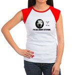 love my PITBALL on back Women's Cap Sleeve T-Shirt