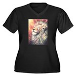 Sun King Women's Plus Size V-Neck Dark T-Shirt