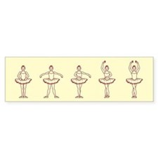 Ballet Positions Bumper Bumper Sticker