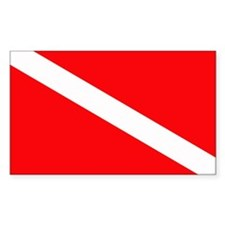 Diver Down Rectangle Sticker 10 pk)