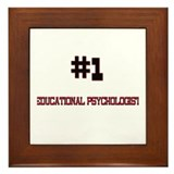 Number 1 EDUCATIONAL PSYCHOLOGIST Framed Tile