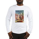 San Francisco Travel Poster Long Sleeve T-Shirt