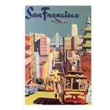 San Francisco Travel Poster Postcards (Package of