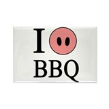 I Love BBQ Rectangle Magnet (100 pack)