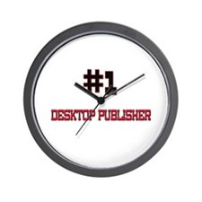 Number 1 DESKTOP PUBLISHER Wall Clock