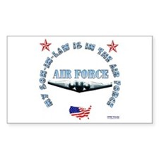 Air Force Son-in-Law Rectangle Decal