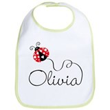 Ladybug Olivia Bib