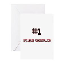 Number 1 DATABASE ADMINISTRATOR Greeting Cards (Pk