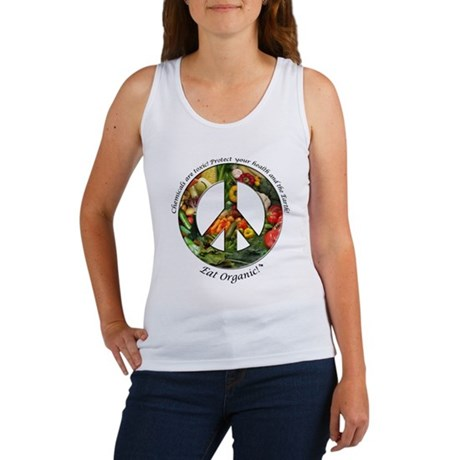 Women's Tank Top Peace Organic Vegetables