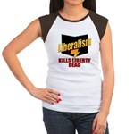 Liberals Kill Liberty DEAD Women's Cap Sleeve T-Sh