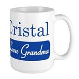 Cristal loves grandma Coffee Mug