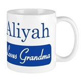 Aliyah loves grandma Small Mugs