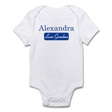 Alexandra loves grandma Infant Bodysuit