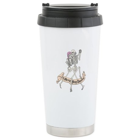 Dancing Skeletons Ceramic Travel Mug