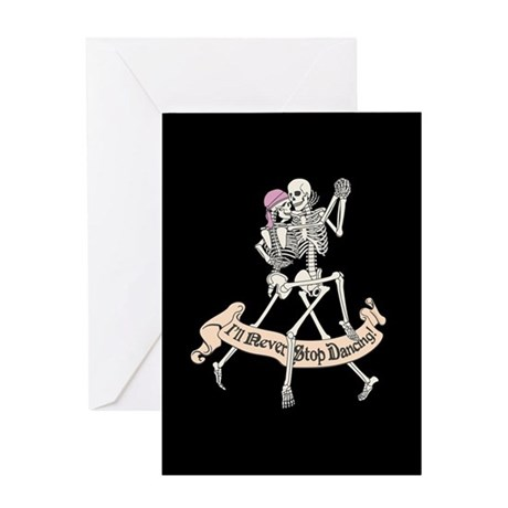 Dancing Skeletons Greeting Card