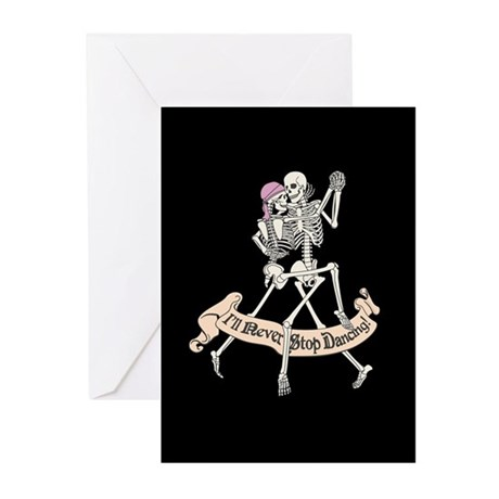 Dancing Skeletons Greeting Cards (Pk of 10)