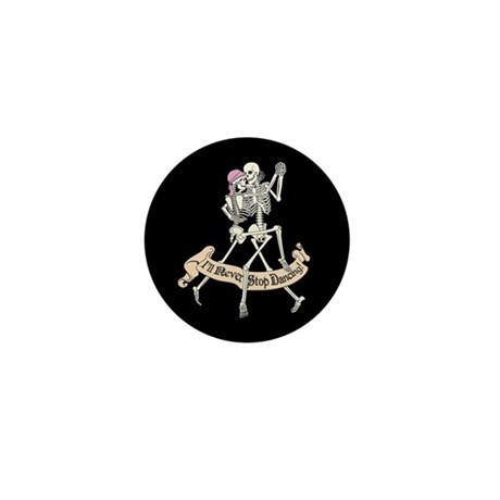 Dancing Skeletons Mini Button (100 pack)