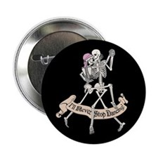 "Dancing Skeletons 2.25"" Button"