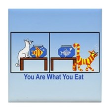 What You Eat Tile Coaster