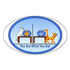 What You Eat Oval Decal