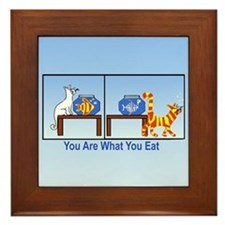 What You Eat Framed Tile