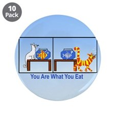 "What You Eat 3.5"" Button (10 pack)"