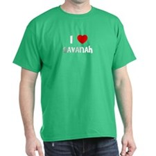 I LOVE SAVANAH Black T-Shirt