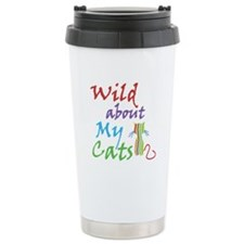 Wild about My Cats Ceramic Travel Mug