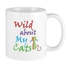 Wild about My Cats Small Mugs