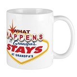 What Happens at Grandpa's Small Mug