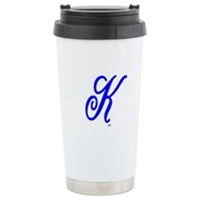 "Initial ""K"" Ceramic Travel Mug"