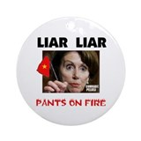 PELOSI IS LYING Ornament (Round)