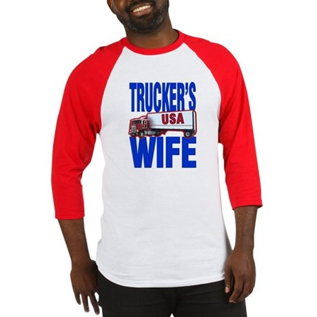 &quot;Trucker's Wife&quot; Baseball Jersey