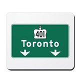 Toronto, Canada Hwy Sign Mousepad