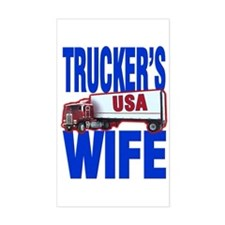 """Trucker's Wife"" Rectangle Decal"