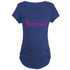 Bridesmaid Pink Twinkle Maternity T-Shirt
