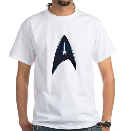 Star Trek New Movie Logo White T-Shirt
