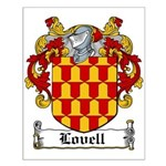 Lovell Coat of Arms Small Poster
