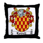 Lovell Coat of Arms Throw Pillow