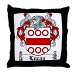 Lucas Coat of Arms Throw Pillow
