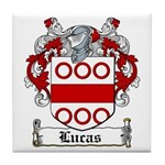 Lucas Coat of Arms Tile Coaster