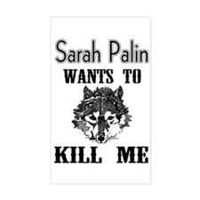 Sarah Will Kill Me! Rectangle Decal