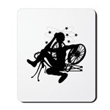 Cyclist Crash Mousepad